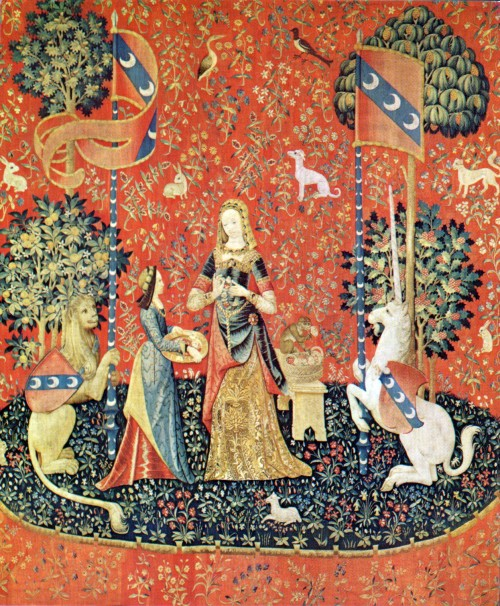 La dame la licorne l 39 odorat - La tapisserie de la dame a la licorne ...