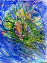 im Hintergrund dieses Aquarells zeigt in Dalis halluzinogenem Torero die verdoppelte Venus von Milo ihre kalte Schulter